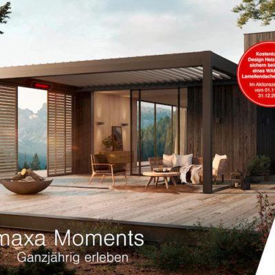 Jetzt kostenlosen WAREMA Design Heizstrahler beim Kauf eines Lamellendachs sichern Image